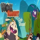 Con la juego Burnin' rubber: Crash n' burn para Android, descarga gratis Wok rabbit: Coin chase!  para celular o tableta.