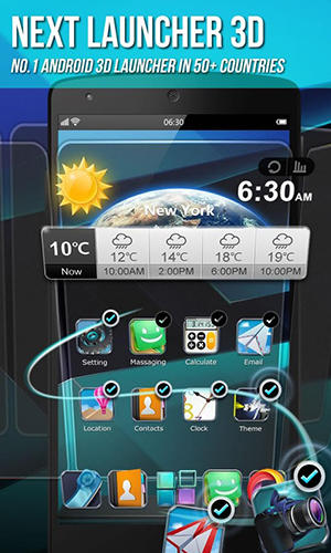 Descargar app Next launcher 3D gratis para celular y tablet Android 3.0.