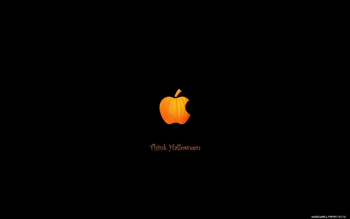 Humor, Holidays, Brands, Logos, Apple, Halloween