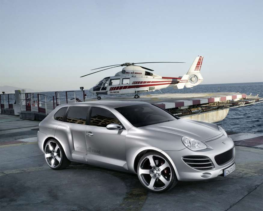 Transport, Auto, Porsche, Helicopters, Chopster