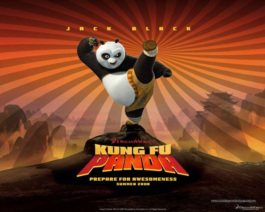 Cartoon, Panda Kung-Fu