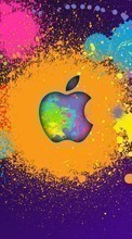 Descargar la imagen Apple, Brands, Background, Logos para celular gratis.