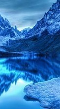 Landscape, Winter, Water, Mountains, Lakes