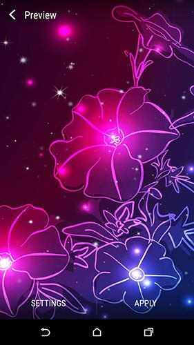 ... Descargar los fondos de pantalla animados Neon flower by Dynamic Live Wallpapers para teléfonos y tabletas ...