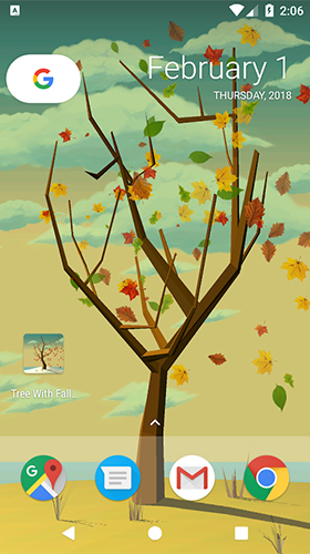 Descargar  Tree with falling leaves - los fondos gratis de pantalla para Android en el escritorio.