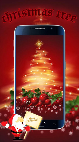La captura de pantalla Christmas tree by Live Wallpapers Studio Theme para celular y tableta.