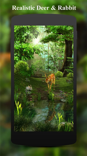 La captura de pantalla Deer and nature 3D para celular y tableta.
