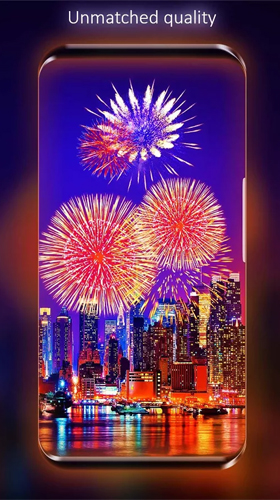 La captura de pantalla Fireworks by Live Wallpapers HD para celular y tableta.