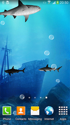 La captura de pantalla Sharks 3D by BlackBird Wallpapers para celular y tableta.