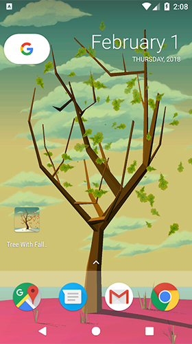 La captura de pantalla Tree with falling leaves para celular y tableta.