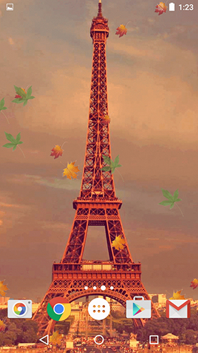 La captura de pantalla Autumn in Paris para celular y tableta.