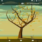 El fondo de pantalla animados Tree with falling leaves para teléfono o tableta Android.