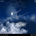 Además de los fondos de pantalla animados para Android Cat in the box, descarga la apk gratis de los salvapantallas Flight in the sky 3D.