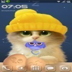 Además de los fondos de pantalla animados para Android Nature HD by Live Wallpapers Ltd., descarga la apk gratis de los salvapantallas Tummy the kitten.